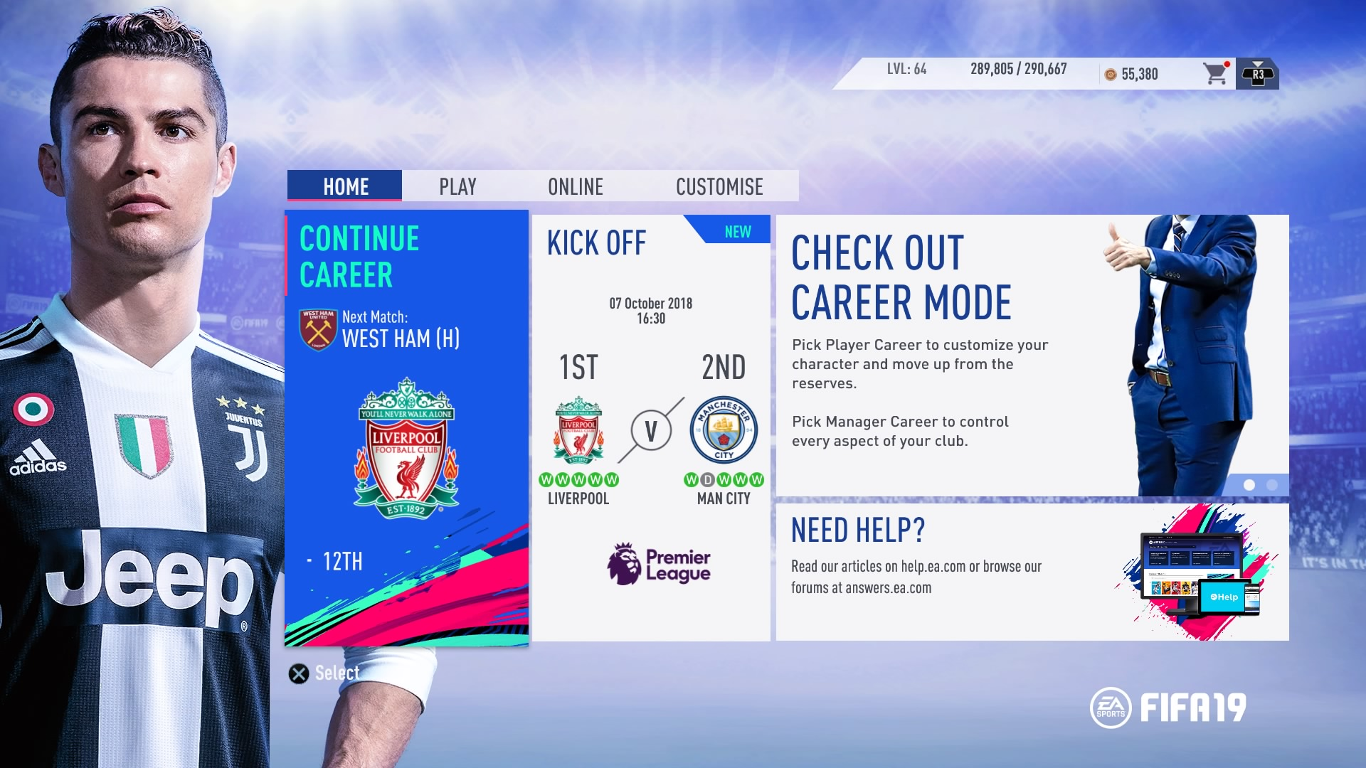 FIFA 19's Unexpected Menu Problems
