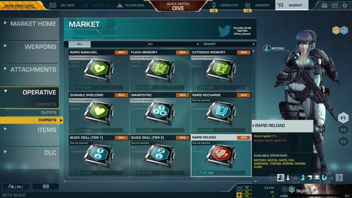 Market chipsets