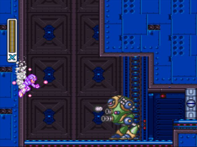 Mega Man X2 screenshot - Wheel Gator