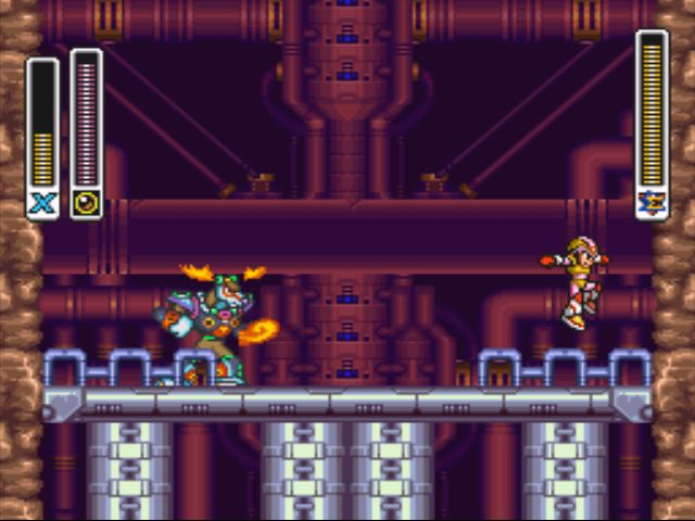 Mega Man X2 screenshot - Flame Stag
