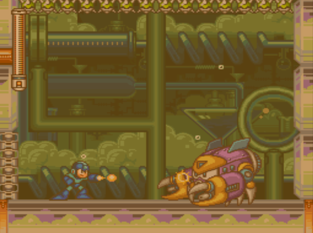 Mega Man 7 screenshot - Burst Man
