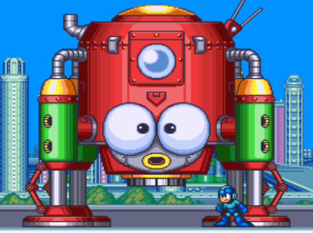 Mega Man 7 screenshot - Items, Upgrades, and Big Eddie's Shop