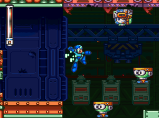 Mega Man 7 screenshot - Junk Man