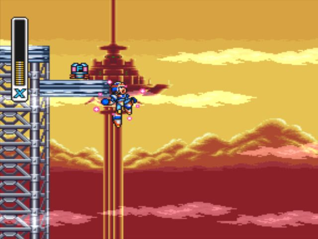 Mega Man X3 screenshot - Gravity Beetle