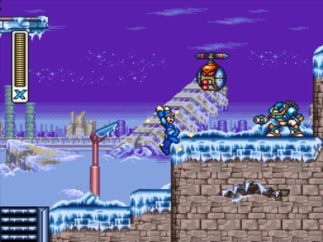 Mega Man X3 screenshot - Blizzard Buffalo