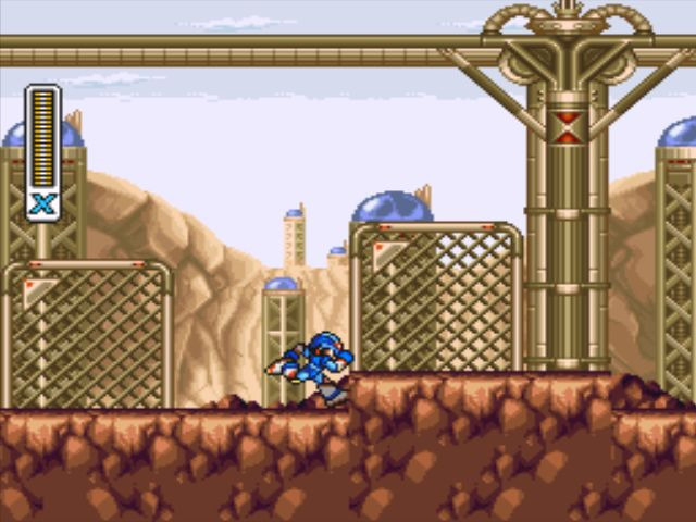 Mega Man X3 screenshot - Tunnel Rhino