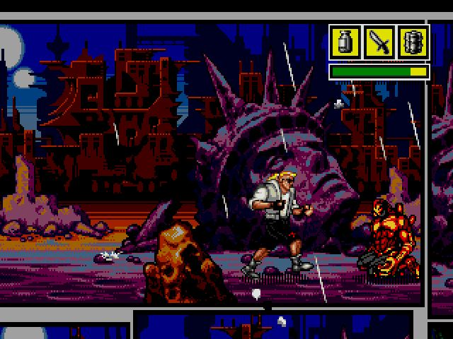 Comix Zone screenshot - Episode 1: Night of the Mutants – Page 1