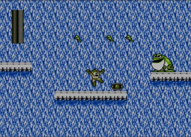 Mega Man 2 screenshot - Bubble Man
