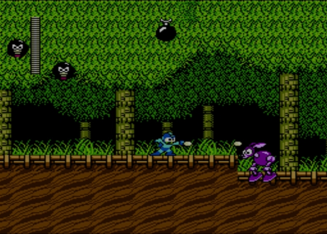 Mega Man 2 screenshot - Wood Man