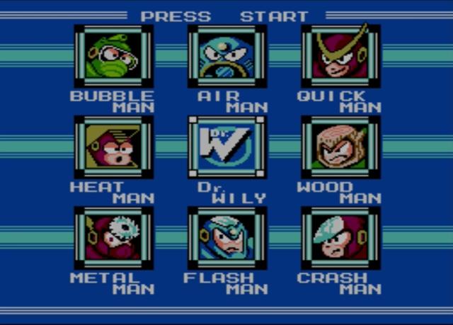 Mega Man 2 screenshot - Robot Masters