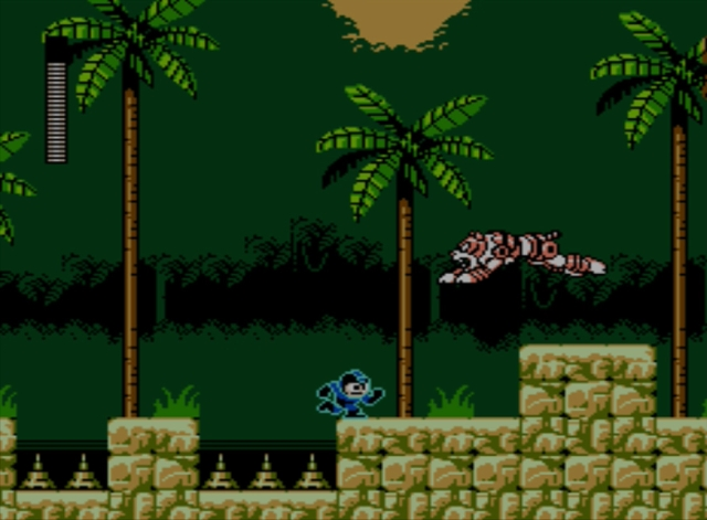 Mega Man 5 screenshot - Napalm Man