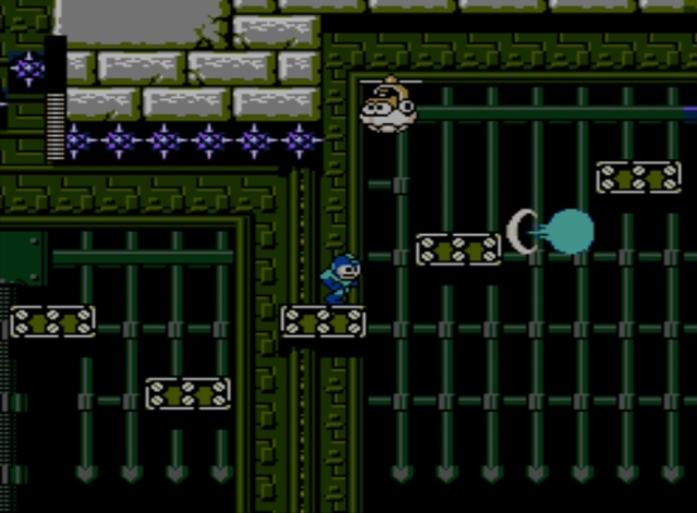 Mega Man 5 screenshot - Stage Two
