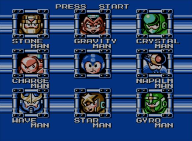 Mega Man 5 screenshot - Robot Masters