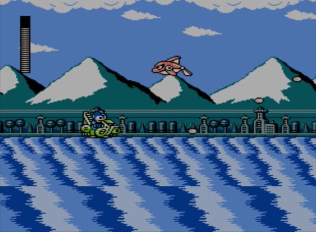 Mega Man 5 screenshot - Wave Man