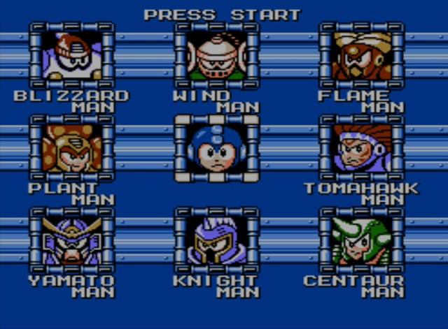 Mega Man 6 screenshot - Robot Masters