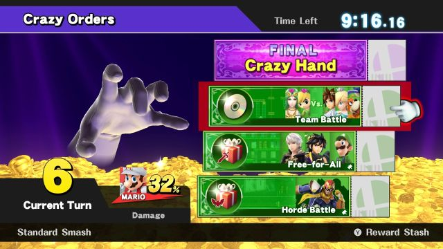 Super Smash Bros. for Wii U screenshot - Crazy Orders