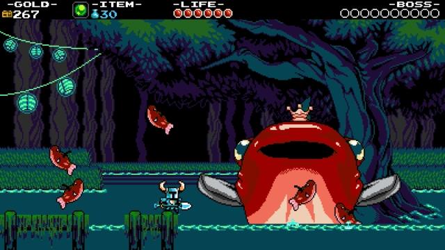Shovel Knight screenshot - Troupple Pond