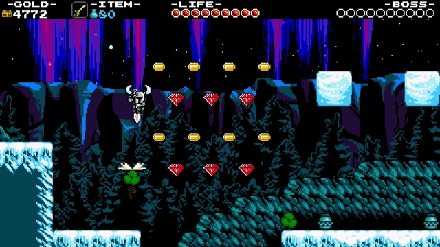 Shovel Knight screenshot - Frigid Flight