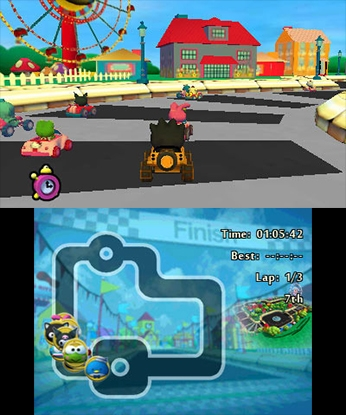 93d6eb9e9 HonestGamers - Hello Kitty and Sanrio Friends 3D Racing (3DS)