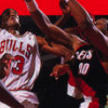 Bulls vs. Blazers and the NBA Playoffs (SNES) artwork