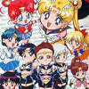 Bishoujo Senshi Sailor Moon: Sailor Stars Fuwa Fuwa Panic 2 (SNES) game cover art