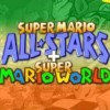 Super Mario All-Stars + Super Mario World (SNES) game cover art