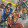 Double Dragon V: The Shadow Falls (GEN) game cover art