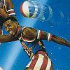 Harlem Globetrotters (NES) game cover art