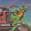 The Official Frogger (A2600) game cover art