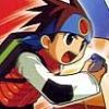 Mega Man Battle Network 4: Red Sun (GBA) game cover art