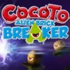 Cocoto: Alien Brick Breaker (3DS) game cover art