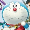 Doraemon: Shin Nobita no Nihon Tanjou (3DS) game cover art