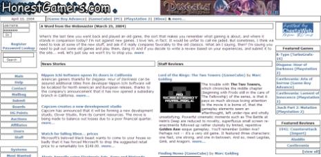 Site snapshot - April, 2004