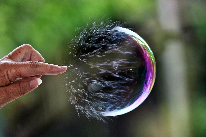 The Bitcoin bubble.